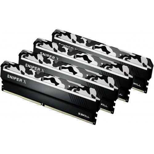 G SKILL Sniper X 64GB (4x16GB) DDR4 3600Mhz C19 1 35V Gaming Memory